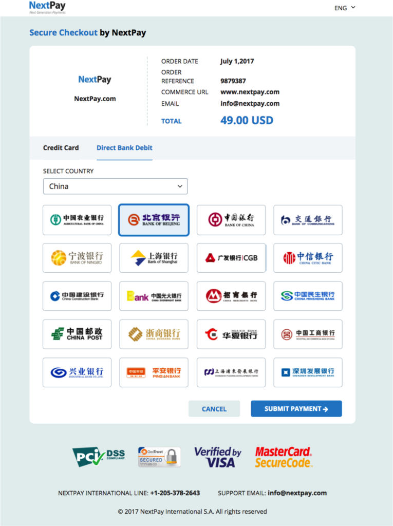 Payment Page NextPay